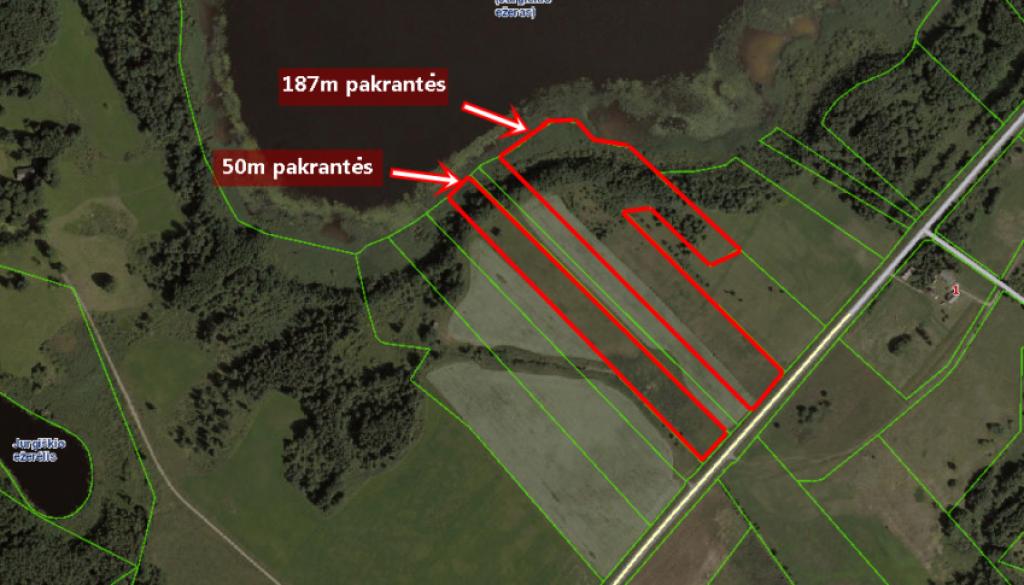 Parduodami du žemės sklypai su mišku ant ežero kranto Anykščių rajone